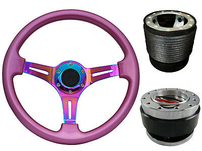 Pink Quick Release TS Steering Wheel + Boss Kit fits HYUNDAI 049