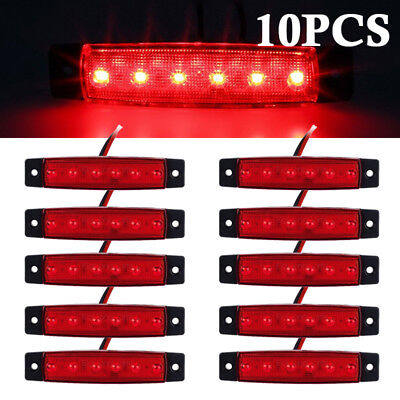 Truck Parts Motivated New White Truck Lights 10pcs 6 Led Truck Lorries Bus Clearance Side Marker Indicators Light Lamp Amber Truck Light 12v Cheap Sales Automobiles & Motorcycles