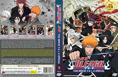 BLEACH (MOVIE 1, 2, 3, 4 + 2 Special) ~ 2-DVD SET ~ English Dub Version ~  Anime