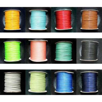 80M/Roll 38 Colors Waxed Cotton Macrame Cord Jewelry Wire String 2mm