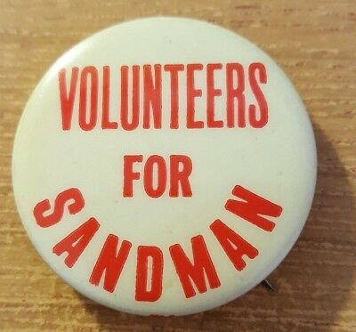 1973 (Charles) Sandman for Governor of New Jersey Campaign Button