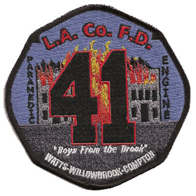 """La County Fire Dept. Engine 41""""boys From The Brook""""  (California) Fire Patch"""