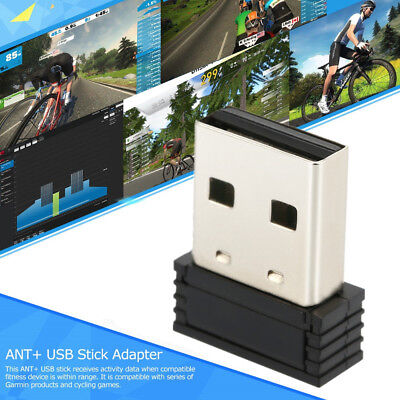 Anself ANT+ USB Stick Adapter Compatible Zwift TrainerRoad PerfPRO Studio I0S9