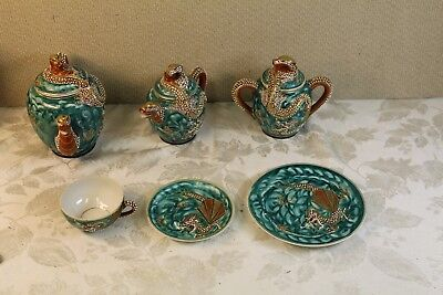 Vintage Exquisite Herford Japanese Dragon Tea Set (30 piece)