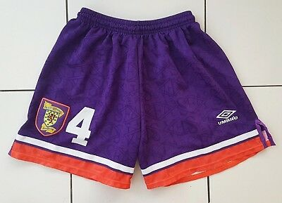 Vintage Embossed S.f.a  Scotland Football  No 4 Shorts With Badge Match Worn