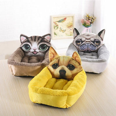 Pet Dog Cat Bed Puppy Cushion House Soft Warm Kennel Mat Blanket 3 SIZE Color