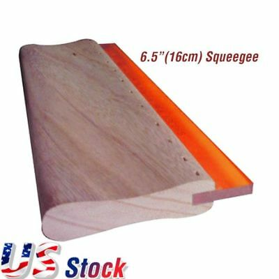 US Stock 6.5 Inch Silk Screen Printing Squeegee Scratch Board 75 Durometers