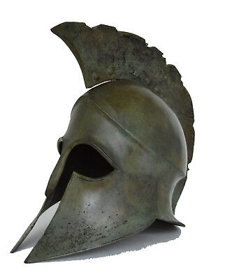 Spartan Great Helmet bronze aged solid type replica real size