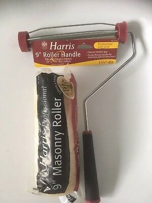 """Brand New Harris 9"""" Roller Handle With Long Pile"""