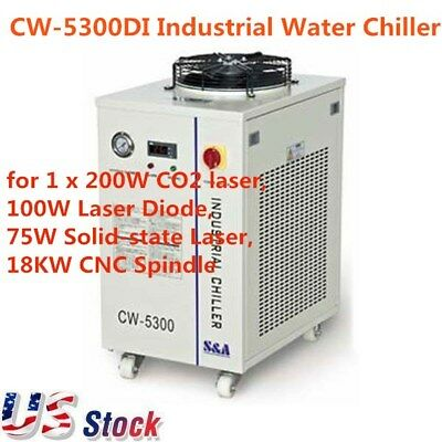 US-CW-5300DI Industrial Water Chiller Cooling System Cooler 200W Laser Engraver