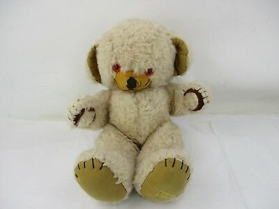 Vintage Merrythought Teddy Bear With Interior Bell