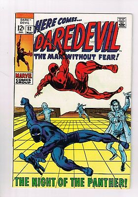Daredevil (1964 series) #52 FN VF HIGHER GRADE BLACK PANTHER KEY ISSUE STAN LEE