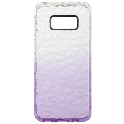 Pour Samsung Galaxy S8 Diamond Pattern Shockproof Cas Cover Silicone Gel Violet