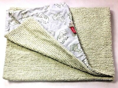 07a0cac3f6d Amy Coe Limited Ed Baby Blanket Green Safari Chenille Cotton Security Red  Tag