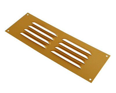 "Gold Wall Mount Air Vent Louvre 3"" 6"" Metal Ventilation Grille Duct Fly Cover"