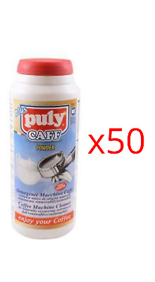Puly Caff Scale Inhibitor Head Cleaner Espresso Machine Cleaning Powder 900g x50