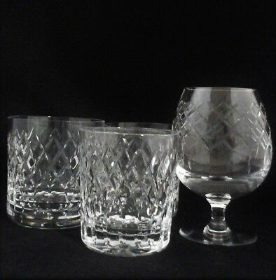 Royal Brierley crystal Coventry glasses x 7