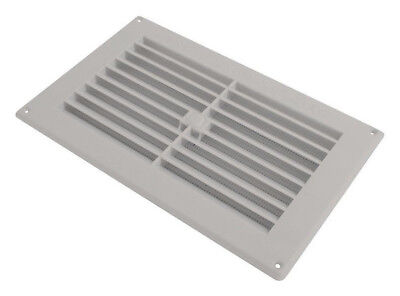"White Wall Mount Air Vent Louvre 3"" 6"" 9"" Metal Ventilation Grille Duct Cover"