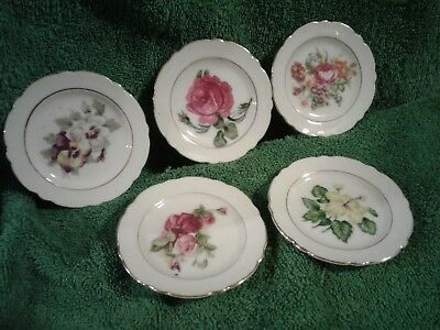 Vintage Mixed Floral Pattern Butter Pats
