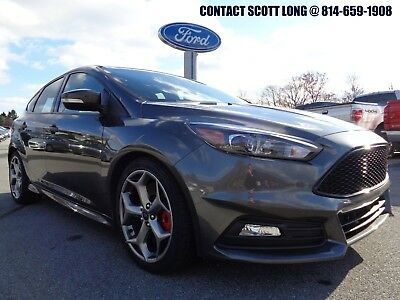 2017 Ford Focus 2017 Ford Focus Hatchback ST 6 Speed Manual Stick 2017 Focus ST 6 Speed Manual Recaro Leather Power Sunroof Magnetic Metallic 11K