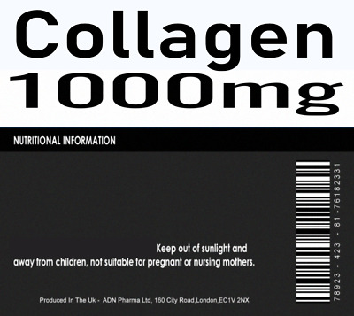 90 x Collagen Tablets 1000mg Firm Skin And Strong Joints With Peptan