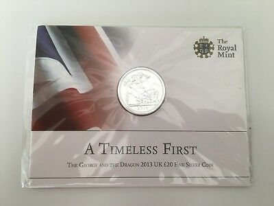 The Royal Mint The George And The Dragon 2013 UK £20 Fine Silver Coin