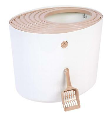 IRIS Top Entry Funny Cat Litter Box with Scoop, Free Shipping