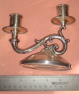 Fisher Sterling Dual Candleholder