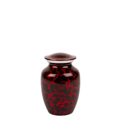 Perfect Memorials Small Black Red Brushed Cremation Urn
