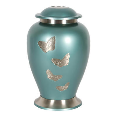 Perfect Memorials Large Butterfly Gathering Brass Cremation Urn