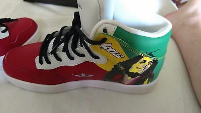 New Limited Edition KOS shoes Premium Leather Marley Size US 8-12 Rasta Sneakers