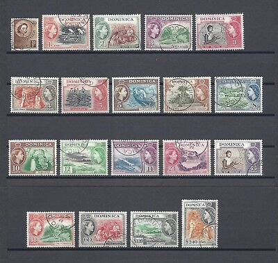DOMINICA 1954-62 SG 140/58 USED Cat £50