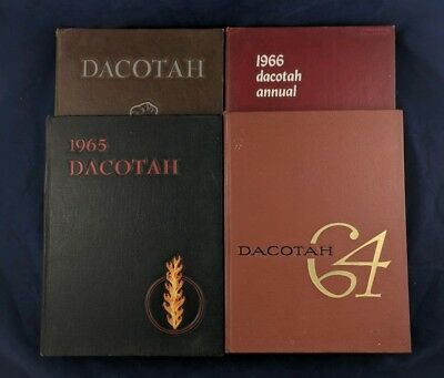 1964-1967 University of North Dakota Yearbook Dacotah Vintage 60s Set of 4 Books