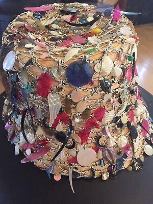 VINTAGE Rare Authentic Women's Ornamental Hat Made In Italy Size 7