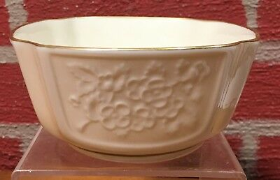 Vintage Lenox Small Bowl with Blossoms  Hand Decorated w/ 24K Gold - VGC