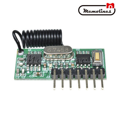 Wireless 433MHz RF Module Receiver Remote Control 4-Way Learning Decoder Board