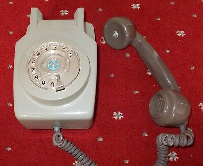 GPO/BT Tele 741 Wallphone Grey with Wall Bracket Dated 1978
