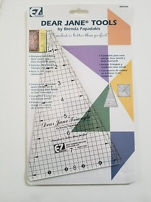 EZ Quilting Dear Jane Tools Acrylic Triangle and Square