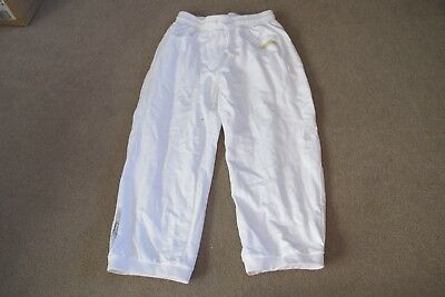 REEBOK 3/4 PANT 14 YEARSWHITE GIRLS Pants Woven Sports Training Pant  BNWT