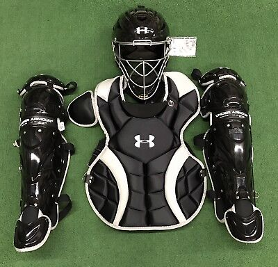 Under Armour Intermediate 13-16 NOCSAE Victory Series Catcher's Gear Set - Black