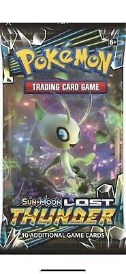 5x Pokemon TCG SM Lost Thunder Booster Pack Factory Sealed NEW