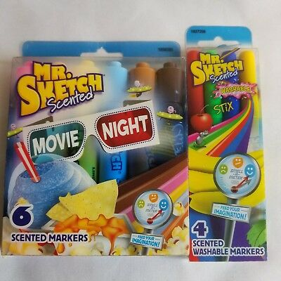 Mr. Sketch Movie Night Scented and Washable Stix Lot of 2 Marker Sets