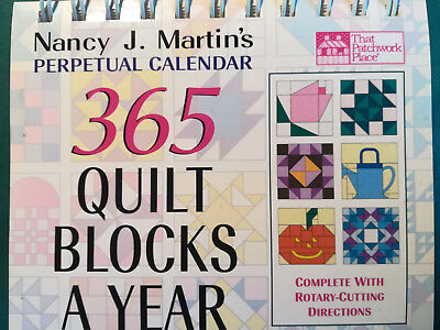 365 Quilt blocks a year Nancy J. Martin`s Perpetual Calendar