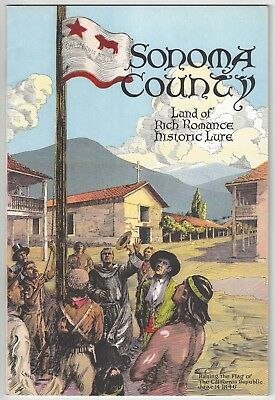 1930 Sonoma County, California Brochure - Nice Graphic Cover, Mission, Indian