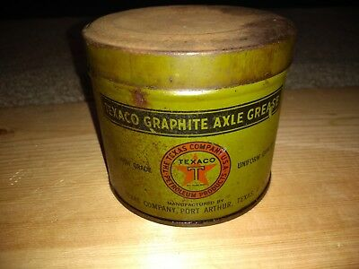 Texaco Graphite Axle Grease Can 1 Pound From 1920's To 1940's