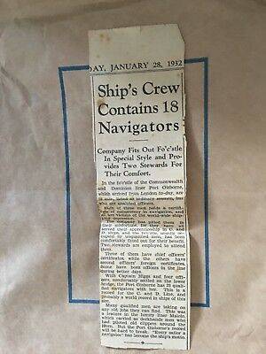 Reduced price! Estate Sale! 1932 cutout from paper re Uk officers enlisting.