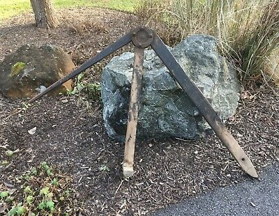 Vintage Antique Lakins Bros Chicago Wagon Buggy Jack Horse Drawn Primitive Tool