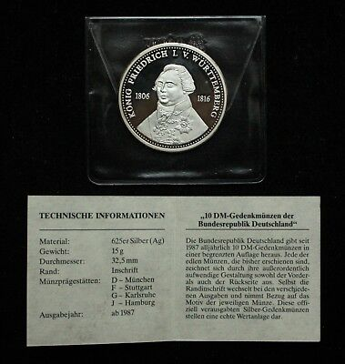 King Friedrich I. V. Wurttemberg 1806 - 1816 Germany Silver Coin