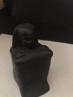 Rare Ancient Egyptian Black Basalt Priest Hor (23d Dynasty)