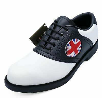 Mens Leather Lace-Up Spikeless Casual Classic Golf Shoes Comfort Brogues Uk 6-11